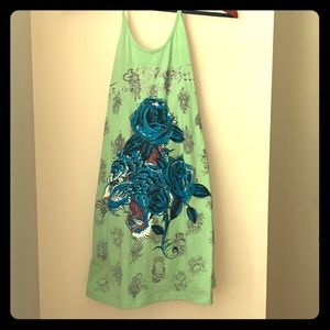 Ed Hardy Halter Dress with Built-in Bra Size S